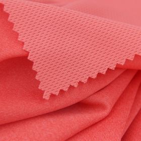 Twist Mesh 100% Polyester Cation Honeycomb Interlock fabric for Sports T-shirt