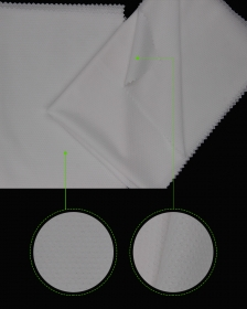 Dri fit 100% Polyester Mesh fabric for Sports Bibs or Jersey in White color