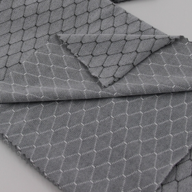Brushed 47% Polyamide 42% Polyester 11% Elastane Jacquard fabric in Diamond-shaped