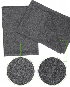 Heather Gray 94% Polyester 6% Spandex Full Dull Cation Single Jersey fabric