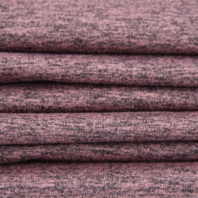 Pink Heather Gray Color 94% Polyester 6% Spandex Cation Single Jersey fabric