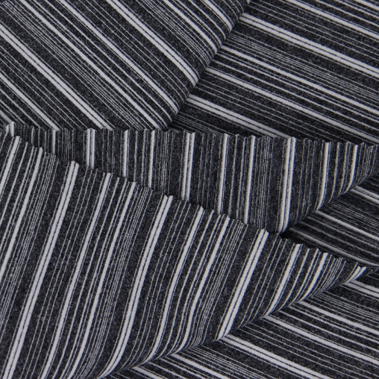 169365ad7dbe5 87% Polyester 13% Spandex Heather Grey Color Horizontal Stripes Single  Jersey fabric