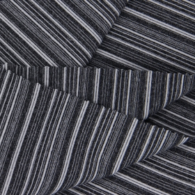 87% Polyester 13% Spandex Heather Grey Color Horizontal Stripes Single Jersey fabric