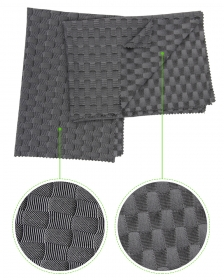 Circular Knitted Elastic 44% Polyester 41% Polyamide 15% Elastane Plaid Jacquard fabric for Sportswear
