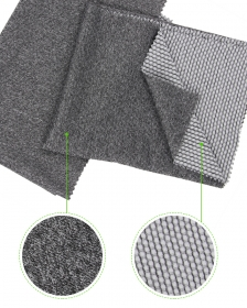 Heather Gray Dimensional 94% Polyester 6% Spandex Jacquard Mesh fabric with Bossy Dots for Sports Outwear