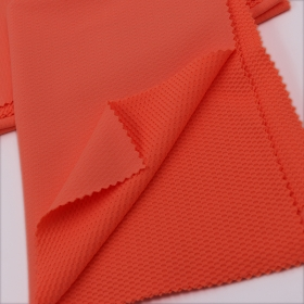 Fashionable 93% Nylon 7% Spandex Double Knitted Mesh fabric for Running Apparel Use.