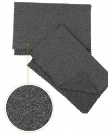 88% Polyester 12% Spandex Front Side Brushed Cation fabric with Super Soft Handle in Heather Gray Color