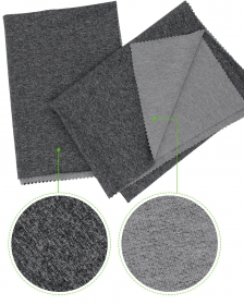Heather Gray 93% Polyester 7% Spandex Micro Terry Cation fabric with High Stretch for Running Apparel