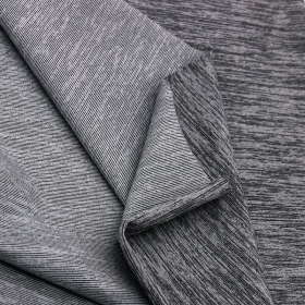 Full Dull 87% Polyester 13% Spandex Front Sanded Stripe fabric in Matte Color with High Stretch