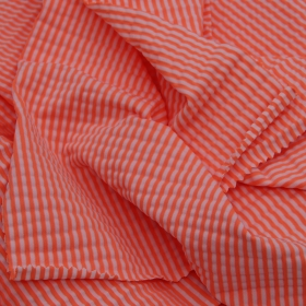 36% Nylon 52% Polyester 12% Spandex Colored Stripe Stretch Bubble Wrinkle fabric