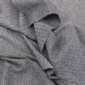 64% Polyester 20% Nylon 16% Spandex Transverse Herringbone Jacquard fabric for Leisure Clothes