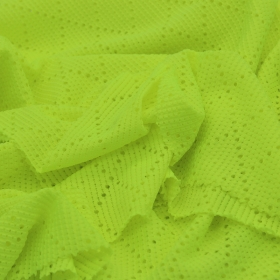 Breathable 82% Polyester 18% Spandex Rhomb Jacquard Hollow-out Mesh fabric for Sportswear Lace Use