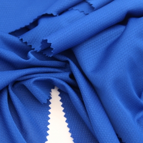100% Polyester Single Side Mesh fabric with Moisture Wicking and Dri Fit for Sportswear or Casual Apparel
